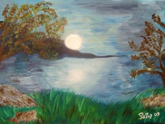 La luna sul lago
