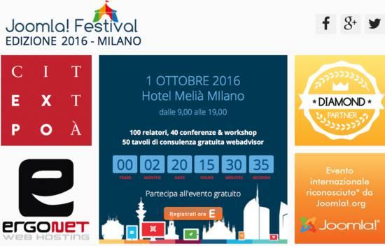 Aperte le iscrizioni al Joomla Festival 2016