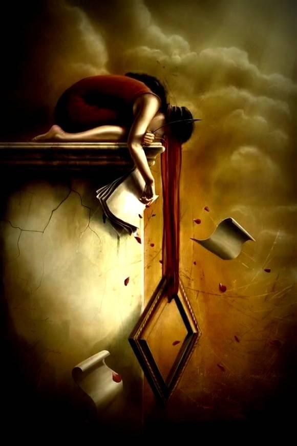 Cosa vedi nell 39 immagine i su lady juliette - Specchio che si rompe da solo ...