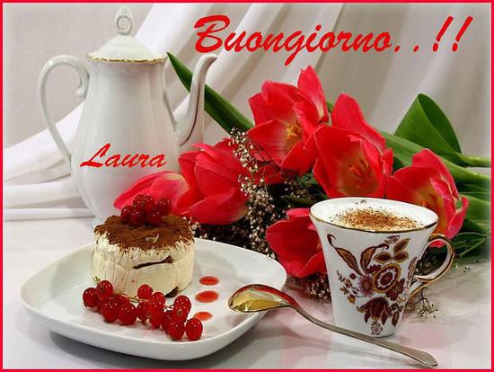 Preferenza Il buongiorno di Laura con il caffè e i fiori rossi RF91