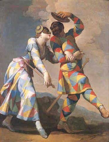 Colombina e Arlecchino - G.D.Ferretti