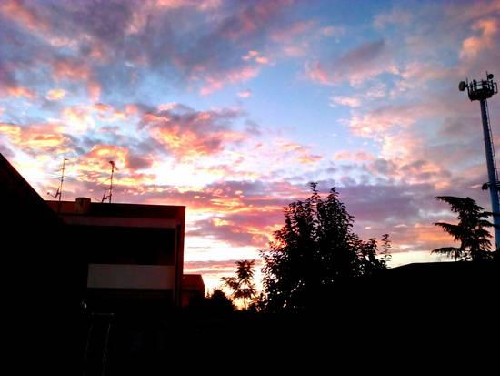 Nuvole e luce