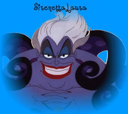 Ursula la strega del mare personaggio antagonista del cartone disney