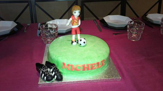 Calciatore cake