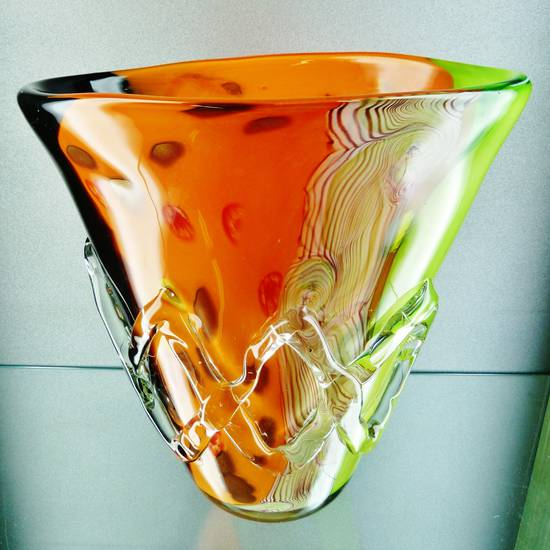 Enorme Vaso Murano Art Glass Acid Seguso Toso Barbini ...