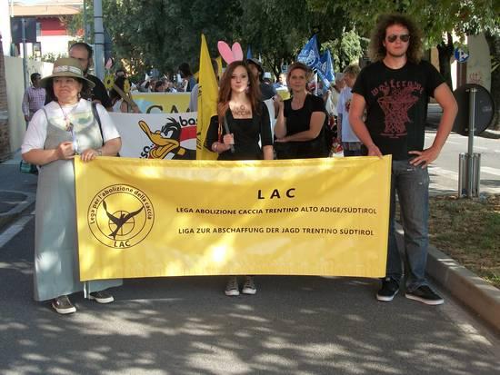 MANIFESTAZIONE NAZIONALE CONTRO LA CACCIA 2012