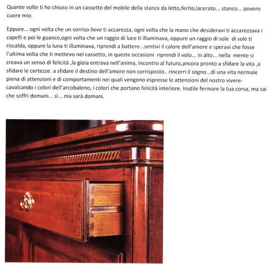 poesia il cuore -nel cassetto