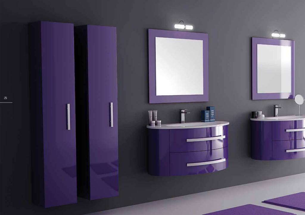 Mobile bagno sospeso viola [tibonia.net]