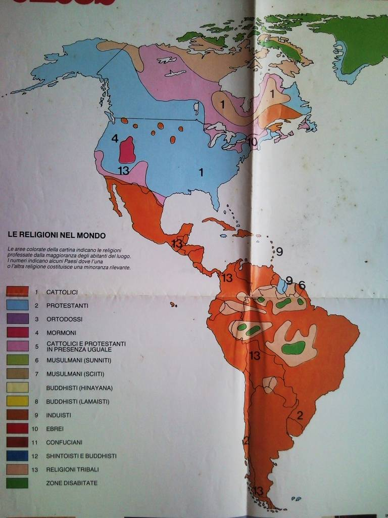 Cartina Geografica Delle Religioni Nel Mondo.Geografia Delle Fedi Nel Mondo