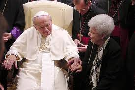 Chiara Lubich e Papa Giovanni