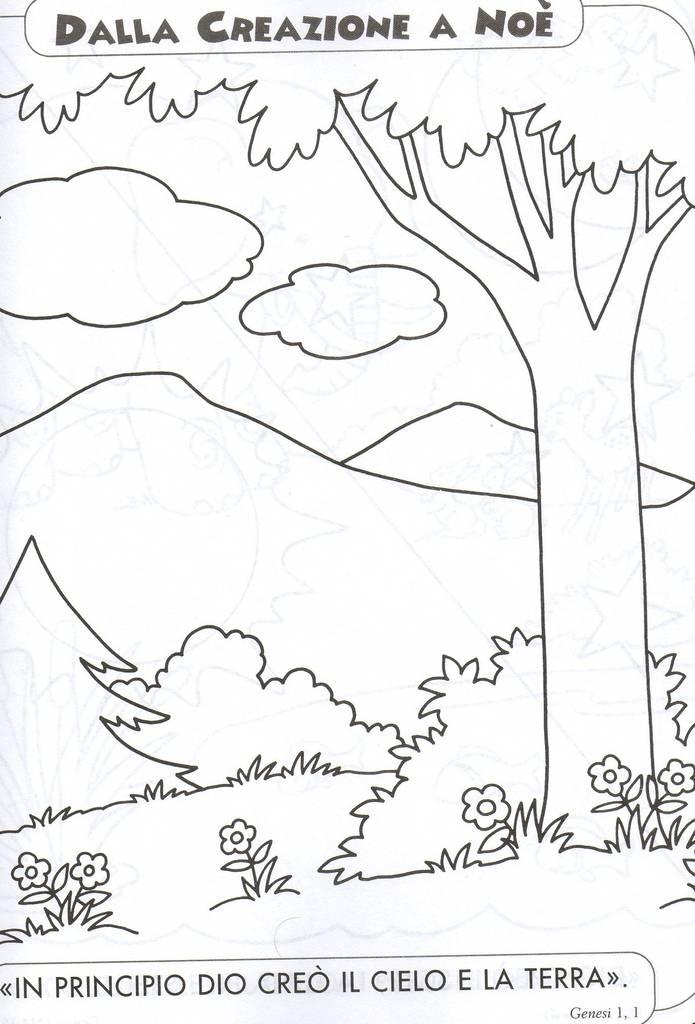 La creazione da colorare per bambini ts52 regardsdefemmes - Libero clipart storie della bibbia ...