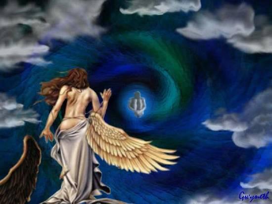 angelo si toglie le ali per arrivare meglio all'amico