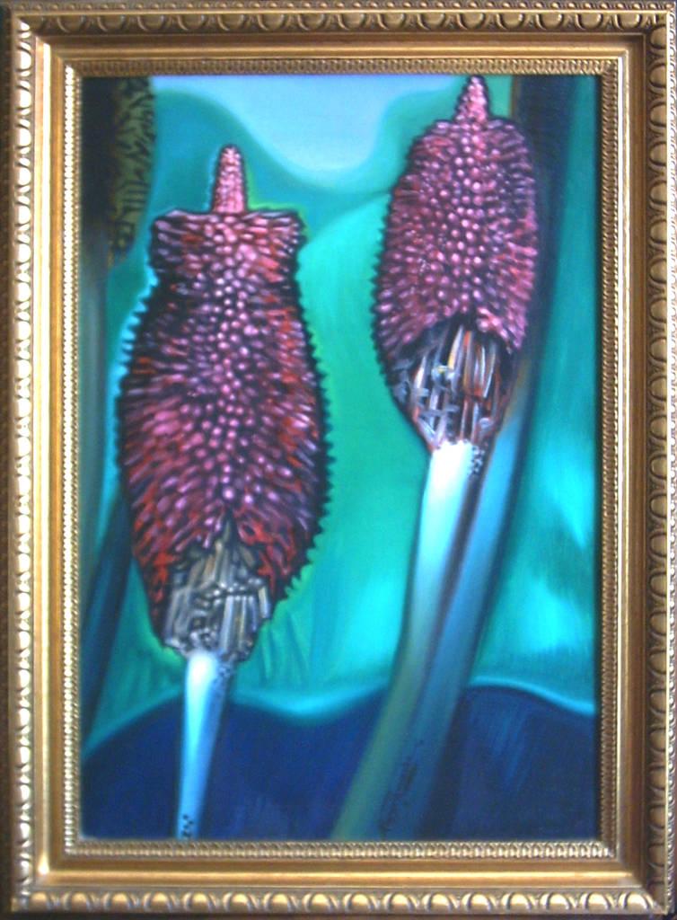 Tizzone di fuoco, 2000, Ismaele Alongi, cm 40 x 60, olio su tela