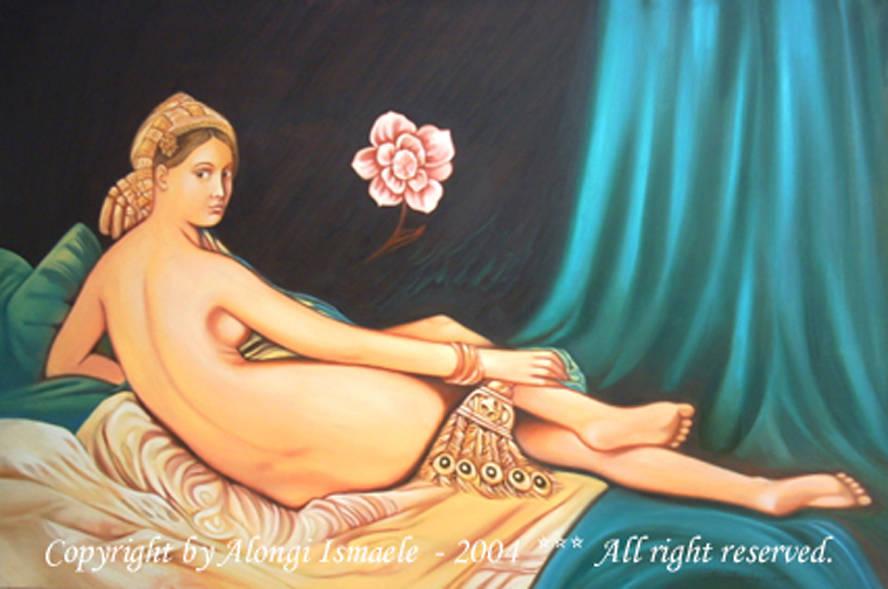 Il fiore della giovinezza, 2004, Ismaele Alongi, cm 80 x 120, olio su tela