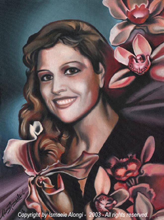 Ritratto di Signora, 1998, Ismaele Alongi, cm 30 x 40, olio su tela