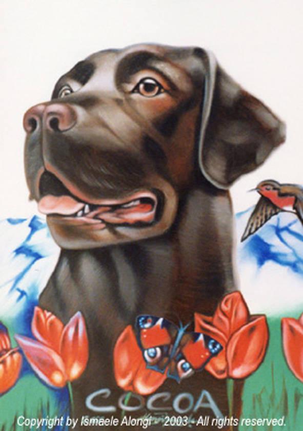 Cocoa, 2000, Ismaele Alongi, cm 50 x 70, olio su tela
