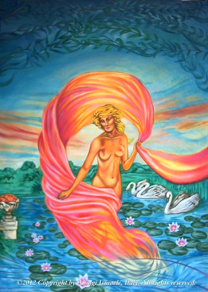 L'Aurora, 2012, Ismaele Alongi, cm 50 x 70, acrilico su tela