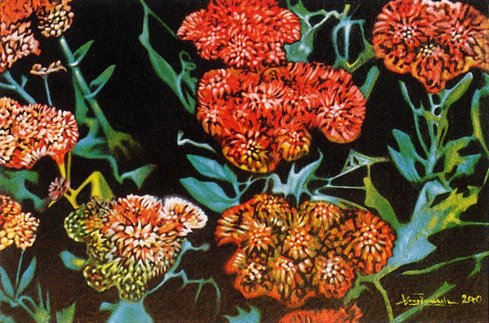 Sistemi di compressione: Ice Plant, 2000, Ismaele Alongi, cm 50 x 70, olio su tela