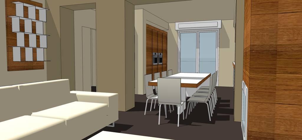 Forum Arredamento.it • Mi aiutate? Illuminazione soggiorno cucina!