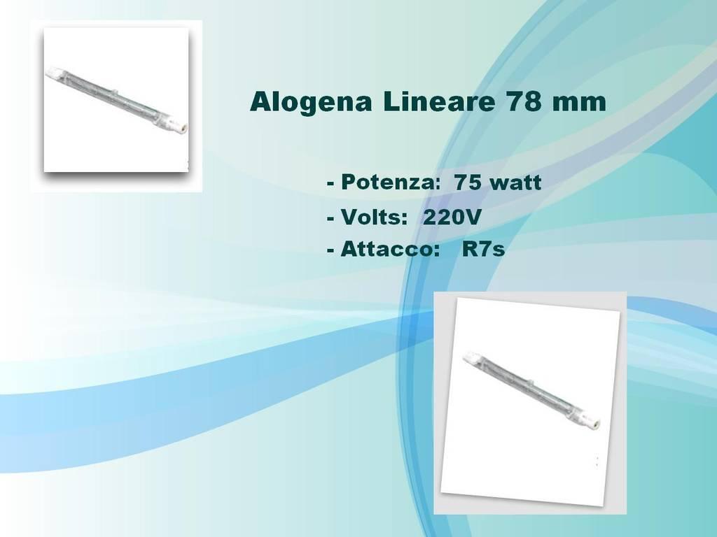 Lampadina lampada alogena lineare 75w r7s 78mm faretto ebay for Beghelli r7s 78mm