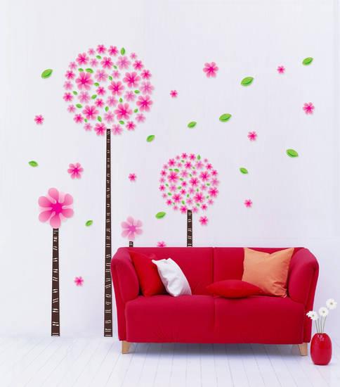 Wall Stickers Adesivi Fiori Colorati Decorazioni Murali Bambini AY989 60x90  eBay