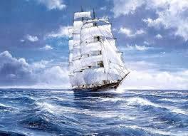 barco en mar movido