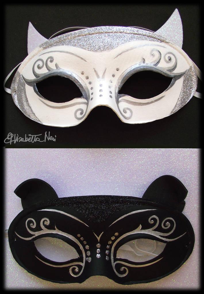 maschere realizzate da Elisabetta Neri