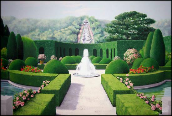 Il Giardino all'Italiana - dipinto di Elisabetta Neri