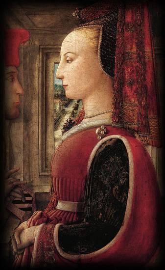 Ritratto di donna con uomo al davanzale-F.Lippi