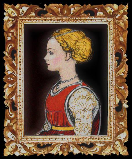 Dama immaginaria del Quattrocento - E. Neri