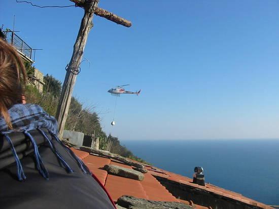 L'elicottero dal terrazzino