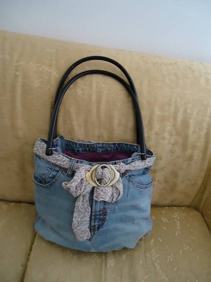 Borsa in jenas su piccole gioie for Borsa jeans tutorial