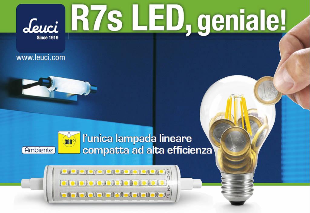 Lampada relco leuci led 10w r7s alta resa sostituzione for Lampada led lineare r7s