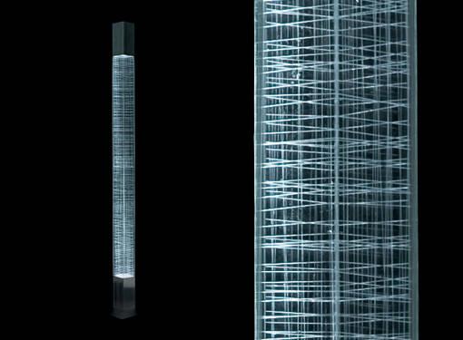 Artemide lampada piantana stelo mimesi led con regolatore for Piantana a led