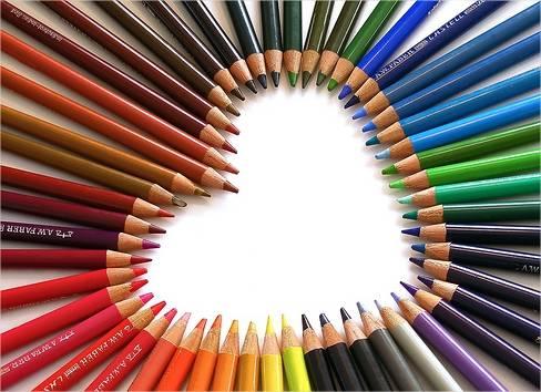 cuore con matite