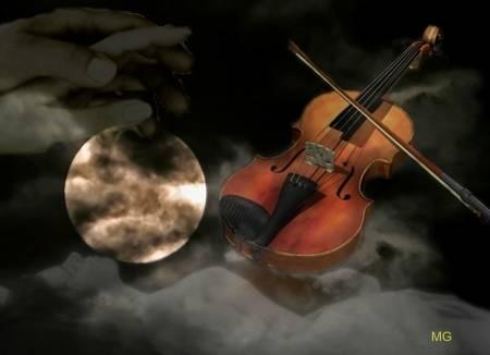 la luna e la musica