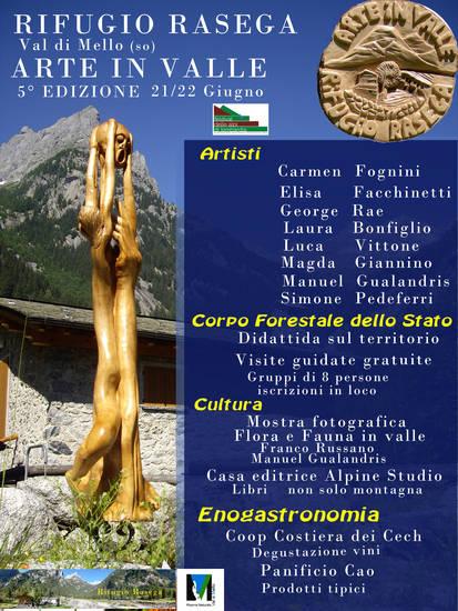 Locandina 5° EDIZIONE DI ARTE IN VALLE 2014