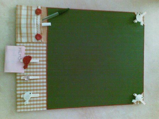 Foto la lavagna da cucina country dall 39 album vanity book - Lavagna da cucina ...