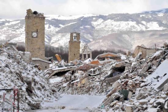 Terremoto e neve