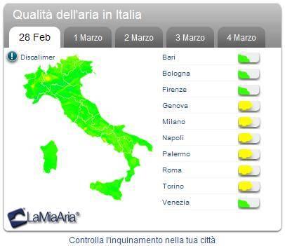 qualita aria italia