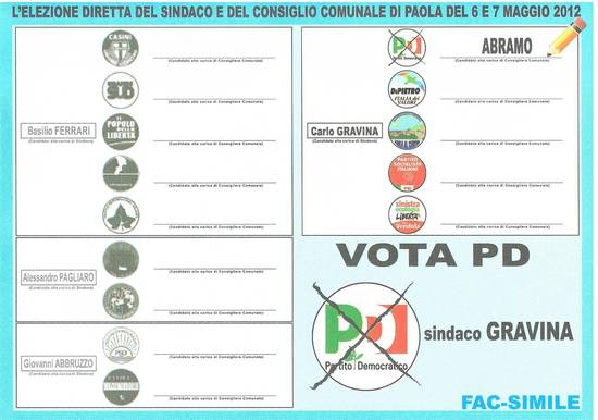 Amministrative vota Abramo