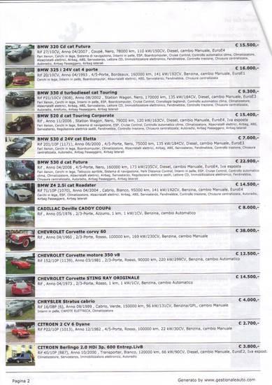 auto vendita