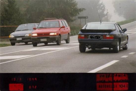 porsche 924  autovelox