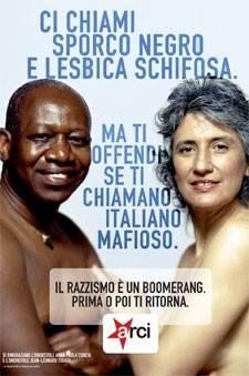 Il manifesto contro le discriminazioni che vede protagonisti Anna Paola Concia e Jean Leonard Touadi