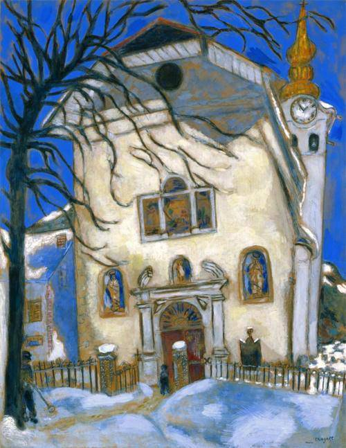 Chagall, Snow-covered Church
