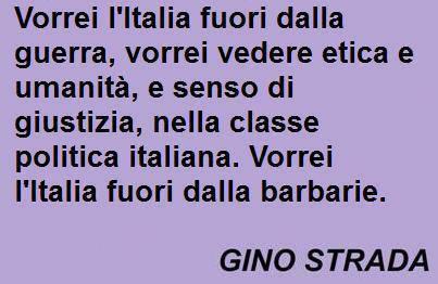 vorrei L'Italia fuori...