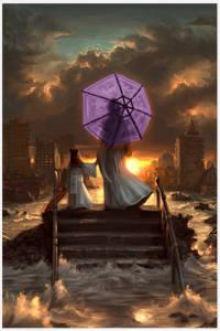 Luli ombrello viola