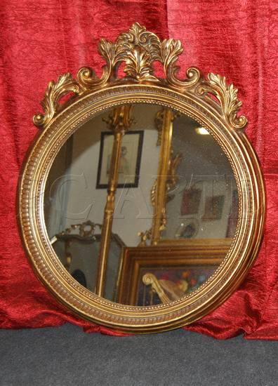 Specchio specchiera con cornice dorata ebay - Specchio con cornice dorata ...