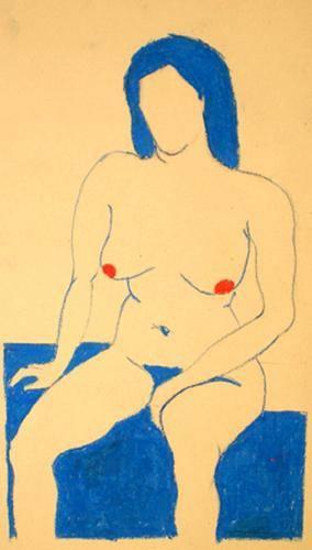 nudo in blu