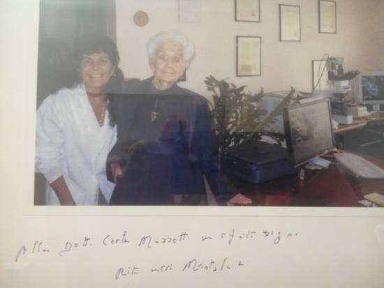 Dott Marzetti con Rita Levi Mo